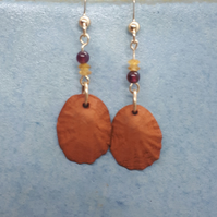 Terracotta shells and gold filled earrings 9