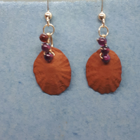 Terracotta shells and gold filled earrings 7