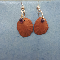 Terracotta shells and gold filled earrings 8