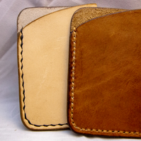 Card wallet, minimalist style. Handmade real italian leather hide