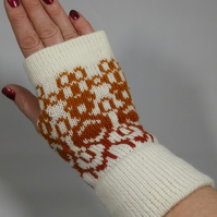 Handmade Alpaca and Wool Fingerless Mittens
