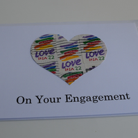 Heart engagement card