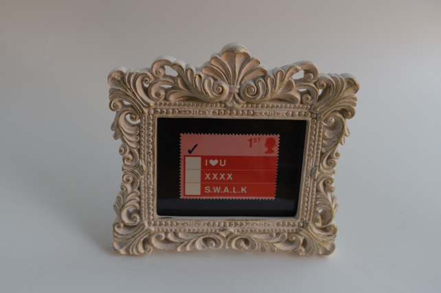 Love postage stamp & frame