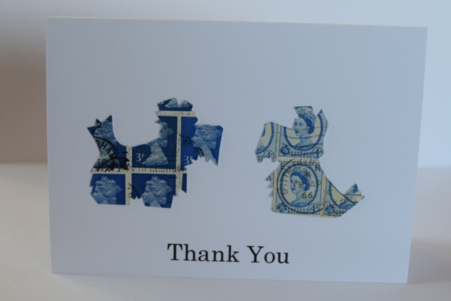 Scottie Dog thank you card