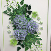 Paper Quilled Flowers in a Frame