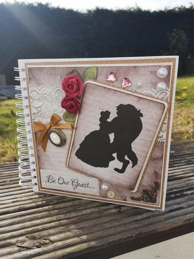 Beauty and the beast inspired Guestbook Bespoke