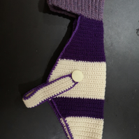 Purple & Cream Dog Sweater jumper
