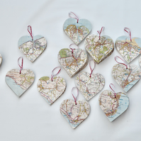 Map hearts - Isle of Wight destinations