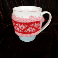 Knitted Mug Rug Cup Cosy