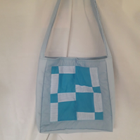 Baby Bag Quilted Blue