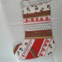 Patchwork Xmas Stocking