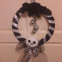 Nightmare before Christmas inspired wreath