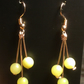 Rose gold plated and peridot gemstone earrings