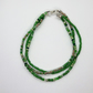 Multi Strand Beaded Bracelet - Green