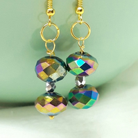 Statement Earrings - Fantasy Line of Jewellery - Faceted Glass Beads