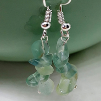 Peridot Dangle Earrings - August Birthstone