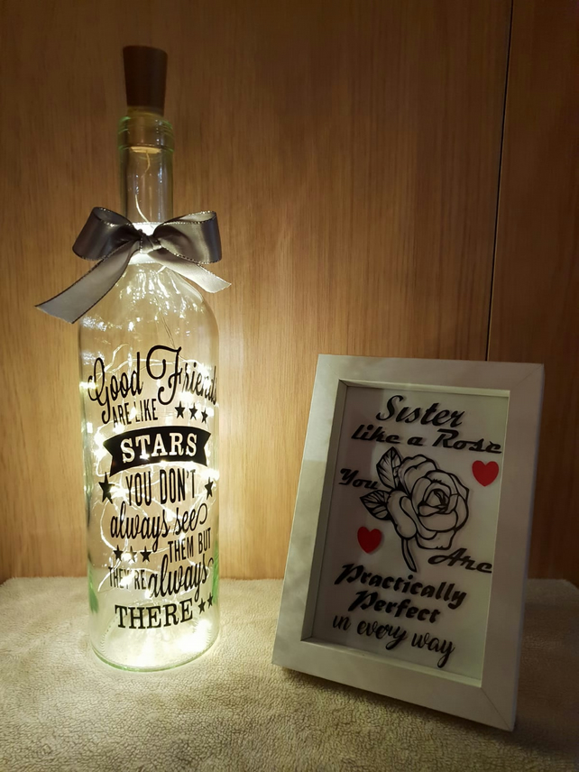 GOOD FRIENDS LED Light Up Keepsake Bottle