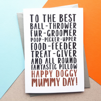 Best Dog Mum Mother's Day Card