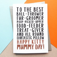 Best Cat Mum Mother's Day Card