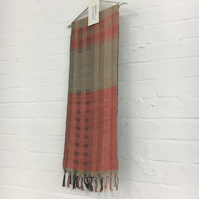 Handwoven Silk and wool Scarf wrap