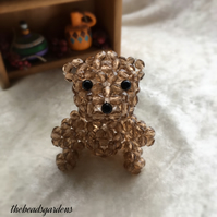 Beaded teddy bear