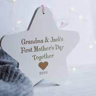 First Mother's Day Grandparent Hanging Rounded Star