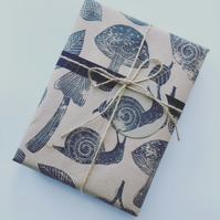 Hand Printed Linocut Wrapping Paper and Gift Tags - Nature Themed