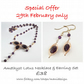 Lotus Amethyst Necklace & Earrings Set