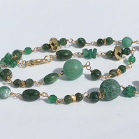 Emerald Trilogy Necklace