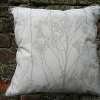 A Beautiful Piped Cushion Cover Featuring Stems & Seed Heads