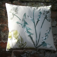 A Lovely Handmade Cushion Cover Featuring A Botanical Scene