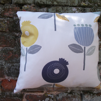 A Beautiful Handmade Cushion Cover Featuring Modern Pomegranettes
