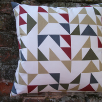 A Rather Jazzy Handmade Cushion Cover