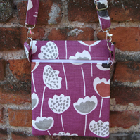 A Shoulder, Tote, Messenger, Travel, Cross Body Bag With Modern Flowers