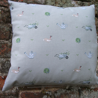 "A Beautiful Cushion Cover in Sophie Allport's "" Gardening """