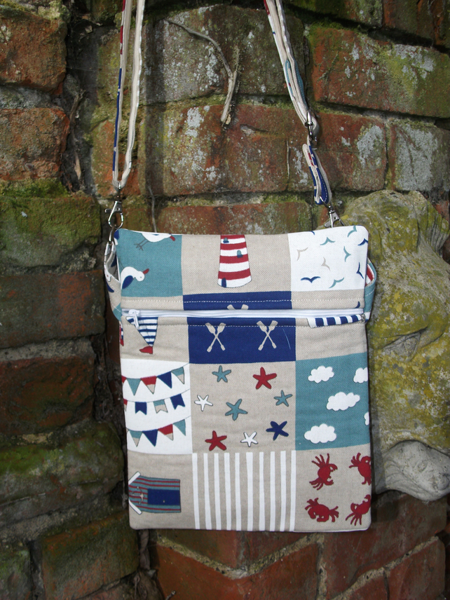 A Shoulder, Tote, Messenger, Travel, Cross Body Bag With A Nautical Theme