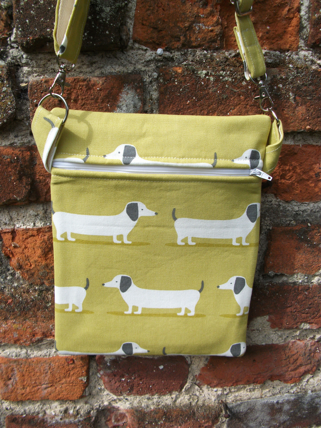A Shoulder, Tote, Travel, Messenger, Cross Body Bag With Some Dashing Hounds