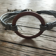 Multi Cord Leather Statement Boho Bracelet