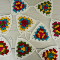 Crochet Bunting Multicoloured