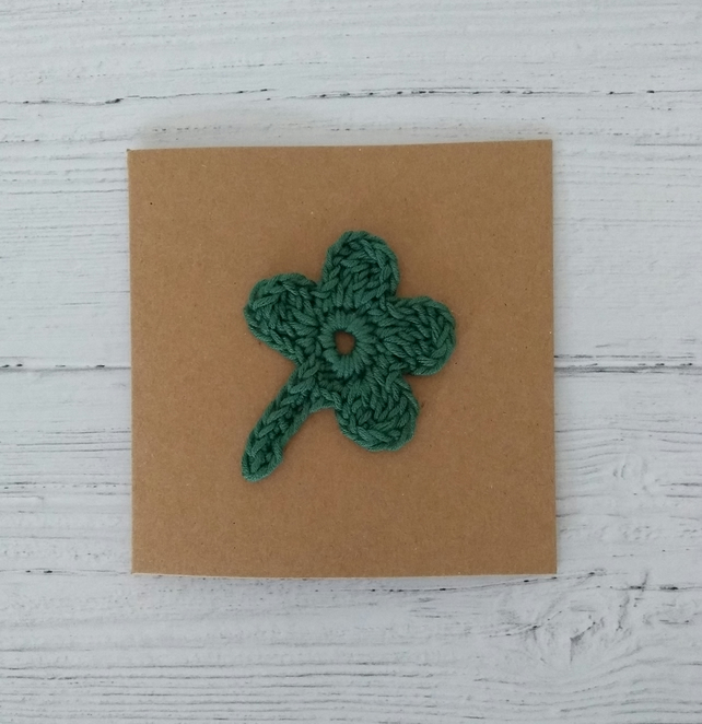 Good Luck Crochet Greetings Card