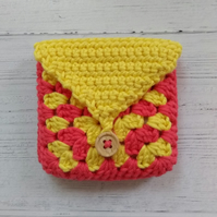 Hand crocheted coin purse