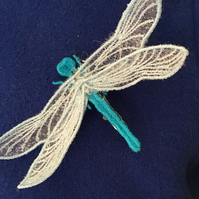 Hand made dragonfly brooch