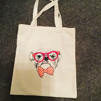 Hand made embroidered  tote bag