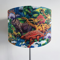Colourful Dinosaur Lampshade - Light Shade Vintage Home House Nursery T-Rex
