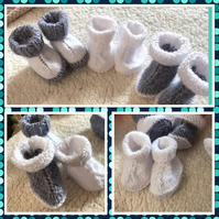 BOOTIE SET:  x 3  (Newborn)