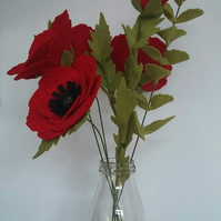 Gorgeous Felt Poppy Bouquet