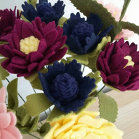 Mixed Felt Flower Bouquet inspired by nature.
