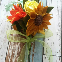 Sunflowers & Roses felt bouquet