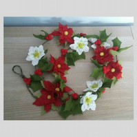 Christmas Felt Flower Garland