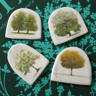Tree Stoneware Brooch